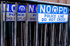 Barricadas da polícia em Nova Orleães Fotografia de Stock Royalty Free