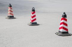 Barricadas del tráfico por carretera fotos de archivo libres de regalías