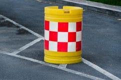 Barricadas del tráfico por carretera imágenes de archivo libres de regalías
