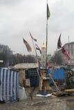 Barricadas en el cuadrado de Mihailovska Foto de archivo libre de regalías