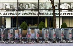 Barricadas na rua Fotografia de Stock