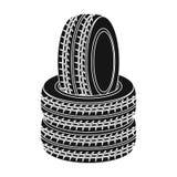 Barricade des pneus Icône simple de Paintball en Web noir d'illustration d'actions de symbole de vecteur de style Photo stock