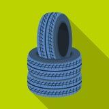 Barricade des pneus Icône simple de Paintball en Web plat d'illustration d'actions de symbole de vecteur de style Images libres de droits