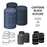 Barricade of empty barrels.Paintball single icon in cartoon style vector symbol stock illustration web. Barricade of empty barrels.Paintball single icon in Royalty Free Stock Images