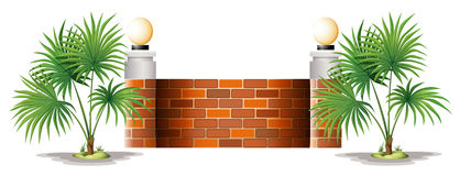 A barricade made of bricks Royalty Free Stock Images
