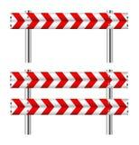 Barricade rouge et blanche de construction Photographie stock libre de droits