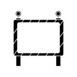 Barricade safety maintenance work pictogram. Vector illustration eps 10 Stock Photography
