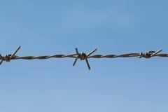 Barricade single steel wire Royalty Free Stock Photo