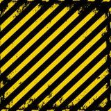 Barricade tape. Yellow-black grunge barricade tape Stock Photos