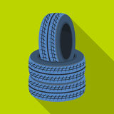 Barricade of tires.Paintball single icon in flat style vector symbol stock illustration web. Barricade of tires.Paintball single icon in flat style vector Royalty Free Stock Images