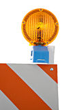 Barricade and Warning Light Closeup Royalty Free Stock Photos