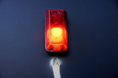 Barricade and Warning Light Closeup . traffic safety roadwork signs and light Stock Image