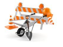 Barricade. On white background Stock Image