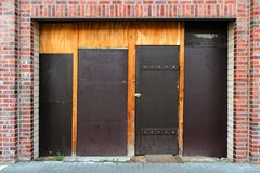 A barricaded entrance royalty free stock image
