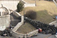 Barricades à Kiev Images libres de droits