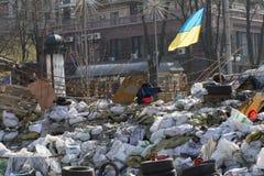 Barricades à Kiev Images stock
