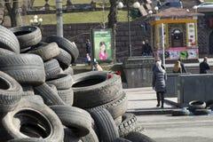 Barricades à Kiev Image libre de droits