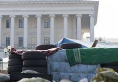 Barricades à Kiev Photos libres de droits