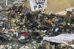 Barricades à Kiev Photo libre de droits