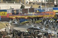 Barricades à Kiev Photographie stock libre de droits