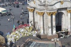 Barricades à Kiev Photo stock