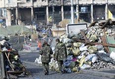 Barricades à Kiev Photos stock
