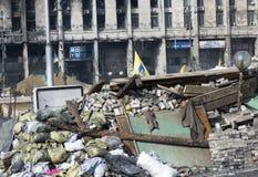 Barricades à Kiev Photographie stock