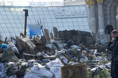 Barricades à Kiev Image stock