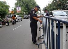 barricades royalty-vrije stock foto's