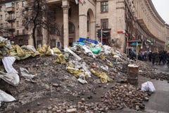 Barricades at Euromaidan in Kiev Royalty Free Stock Image