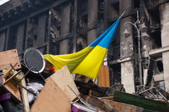 Barricades at Euromaidan in Kiev Royalty Free Stock Photography