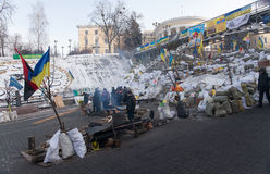 Barricades in Kiev Royalty Free Stock Photo