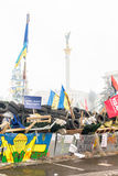 Barricades in the streets of Kiev Stock Image