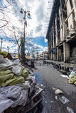 Barricades in the streets of Kiev Royalty Free Stock Photo
