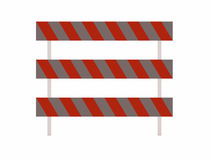 Barricades for use with roads. Barricades for with all roads Royalty Free Stock Photos