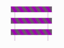 Barricades for use with roads. Barricades for with all roads Royalty Free Stock Photo
