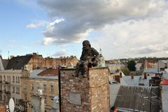 Barrido de chimenea de la escultura Foto de archivo