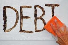 Barrido hacia fuera de deuda Fotografía de archivo libre de regalías