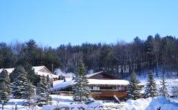 Barrie,加拿大- 2017年1月8日:马掌滑雪胜地在Barrie 库存图片