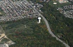 Barrie Ontario antenn Arkivfoto