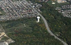 Barrie Ontario, lucht Royalty-vrije Stock Fotografie