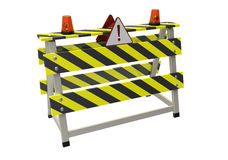 Barrier. 3d illustration of building barrier on a white background Royalty Free Stock Image