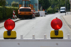 Barrier. Road construction project, with barrier Royalty Free Stock Photography