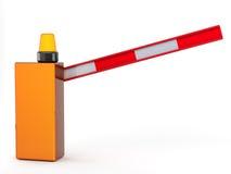 Barrier. 3d barrier on white background stock illustration