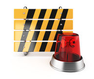 Barrier and alarm lamp Royalty Free Stock Photography
