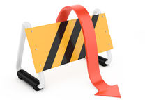Barrier and arrow Stock Images