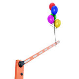 Barrier with balloons close-up Royalty Free Stock Photography