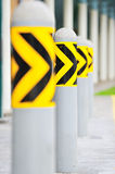 Barrier at bus stop Stock Images