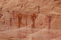 Barrier Canyon Pictograph Royalty Free Stock Photography
