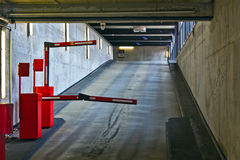 Barrier in a car park Royalty Free Stock Photography